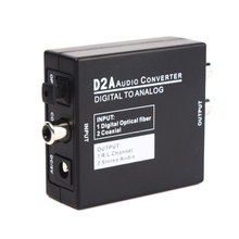 D2A Mini Digital Optical Coax Coaxial Toslink to Analog RCA L/R Audio Converter Adapter Toslink Signal to Analog Audio Converter(China)