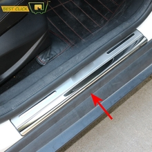 Fit For 2005-2016 Ford Focus 2 Focus 3 Mk3 S'steel Door Sill Plate Door Scuff Cover Kick Step Trim Protector Molding 2014 2007(China)