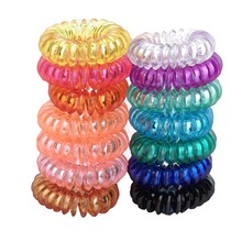 Small crystal 3.5cm telephone Line ring rubber band thickening mini elasticity Children hair accessory accessories new style(China)