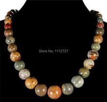 Trendy Accessory Parts Crafts 6-14mm Multicolor Picasso Stones Chalcedony Round DIY Beads Necklace MY4160 Wholesale Balls Gifts