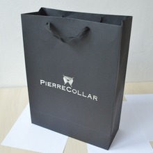 200pcs/lot 40*30*12cm 50%-60% shipping cost discount black card bag paper shopping bags custom size logo design(China)