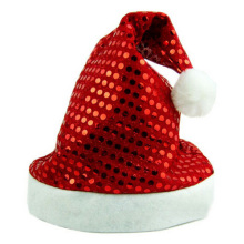 LHBL Deluxe Sequin Santa Hat Outfit Accessory for Christmas Nativity Fancy Dress