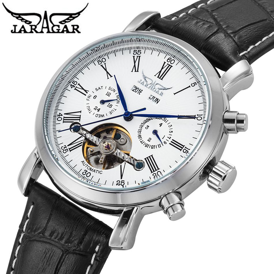 JARAGAR Casual Relojes Hombre 2017 Analog Men Auto Day/Date/Month Mechanical Watch Wristwatch Gift Free Ship<br>