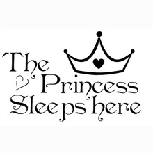 1Pc Art Plane Sleeping Beauty Princess sleeps Bed Bedroom Living Room Wall Sticker Home Decor Decal Accessories(China)