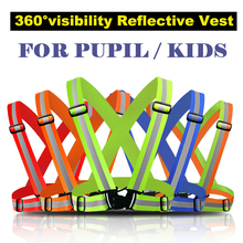 Reflective Safety Vest belt for kid child children pupil Security Reflective waistcoat belt for outdoor running jogging cyclin(China)