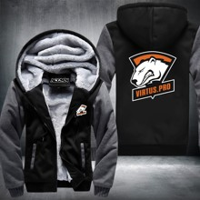 DOTA2 Team Secret Virtus.Pro logo Men Hoodies Jacket Thicken Fleece Turret International Invitation Tops USA size Plus size