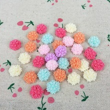 100 Pieces Mixed Color Flatback Flat Back Resin Flower Cabochon Kawaii DIY Resin Craft Decoration Handmake Accessoires:12mm(China)