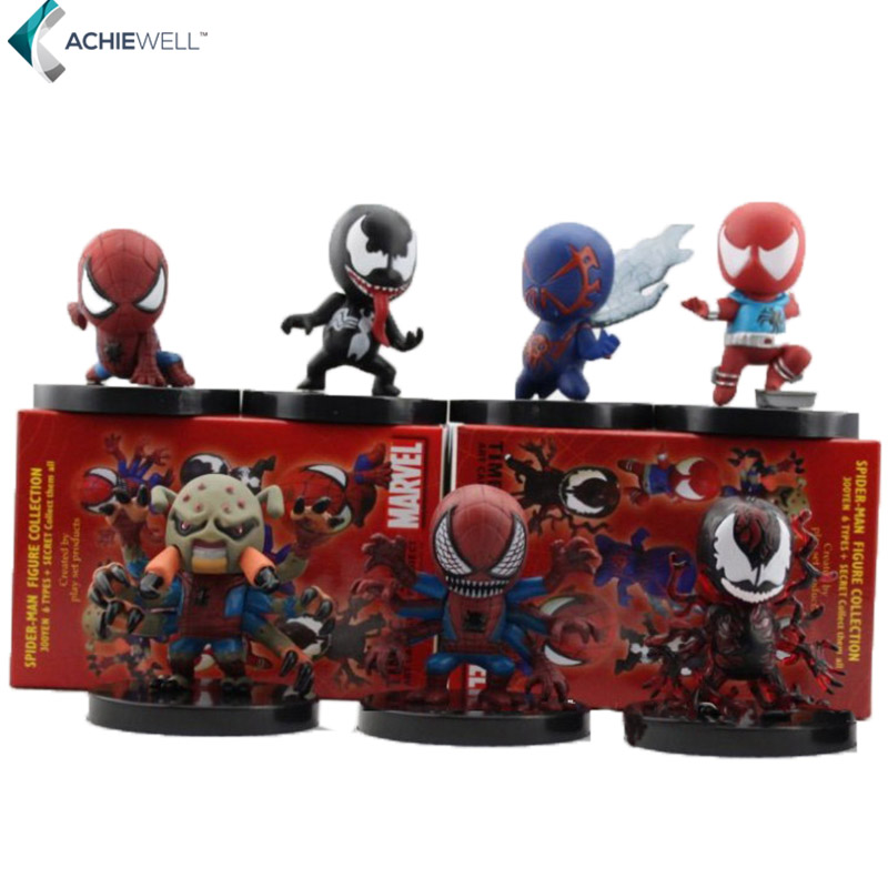 7 Different Style Cute Version Spiderman Action Figures Fan Collections Mini Fun Model Landscape Fleshy Doll Gift For Children<br><br>Aliexpress