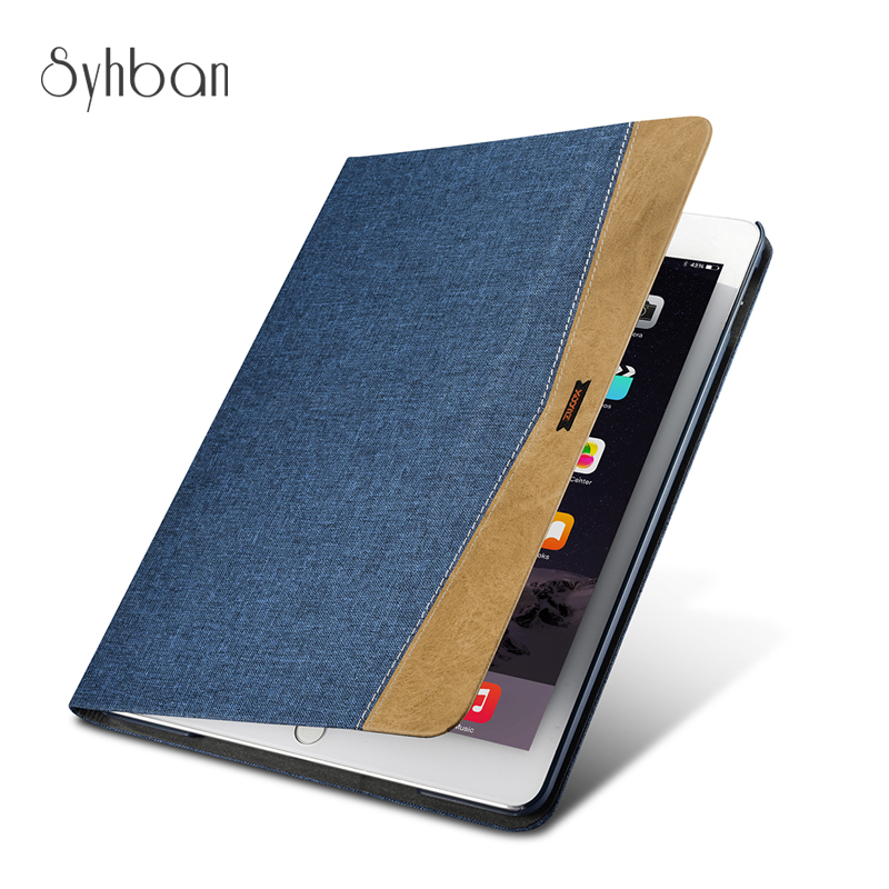 100% XOOMZ New Luxury Layer Genuine Cotton cloth Case For iPad Air 2. 9.7 10.5inch Tablet Cover auto Sleep<br>