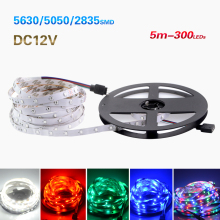 2016 New 5M 300Leds Non-waterproof  Led Strip Light Lamp 5050 2835 3014 3528 SMD DC12V Flexible Led Ribbon Tape Home Decoration