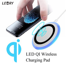 Buy Qi Wireless Charger Pad LED Mobile Phone Fast Charging Mat Holder Dock 5W Phone Power Bank iPhone 8 X 10 Samsung S8 for $10.18 in AliExpress store