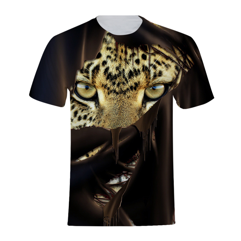 Gothic Beast Tiger Cheetah Lion Men 3d Tshirt Short Sleeve Summer Tops Animal Print Tees Male Clothes Plus Size Funny T-shirt