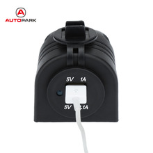 Professional One Hole Dual USB Car Cigarette Lighter Charger Power Adapter 1A/2.1A 2 Ports 12V 24V for Car Truck Boat Bus ATV