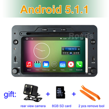 Quad Core Android 5.1.1 Car DVD GPS for Alfa Romeo 159 Sportwagon Spider Brera with BT Wifi Radio(China)