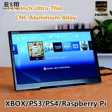 E&M 13.3 inch 1920*1080 5V Portable Game Display IPS Mini HDMI 1080P VGA USB 3.5 Jack Car Raspberry Pi Xbox PS4 Monitor LCD(China)