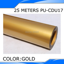 50CM Width 25 Meters Length Gold Color PU Heat Transfer Film Vinyl,One Roll,Korea Quality with best price