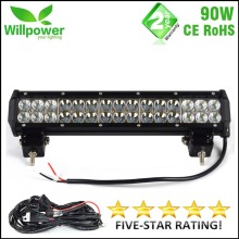 flood spot combo beam Dual rows combo beam 4x4 offroad movable bracket CREEs 15 inch 90W LED work light bar 12V