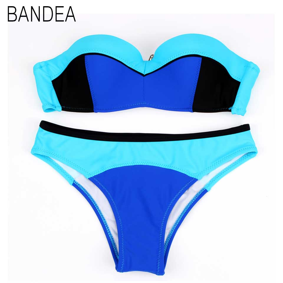 2017 Bow Bandeau Bikini Sexy Women Bathing Suit Biquines Thong Female Swimwear Micro Bikini Brazilian Swimsuit Biquini<br><br>Aliexpress
