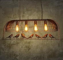 Retro industry personality retro bird pendant lights Cafe Bar Iron restaurant one industrial wind decorative pendant lamp GY188(China)