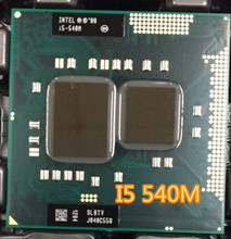 lntel CPU laptop i5-540M I5 540M cpu 3M Cache 2.53 GHz to 3.066 GHz i5 540M PGA988 processor Compatible HM57 HM55 QM57 CAN WORK