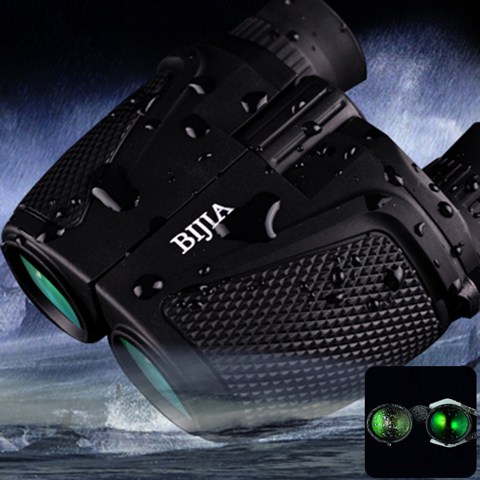 BIJIA Binoculars Porro BK4 Prism Binoculars Waterproof 12 x 25 HD Night Vision Binoculars 83m / 1000m Ultra-clear Telescopes<br>