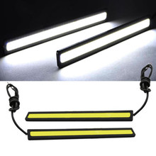 1 Pair 14cm LED COB 84 Chip Pure White Car Auto Driving DRL Daytime Running Lights Lamp Waterproof Bar Strip DC12V Universal