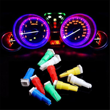 10Pcs T5 Led Car Light 5 Colors Lamp Led 74 37 73 286 Wedge Auto Gauge Dash Dashboard Light Instrument Panel Light Bulb For Ford