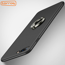TORRAS 0.5mm Ultrathin Phone Cases With Finger Ring Hard PC Matte Anti-Scratch Copue Cover Case For iPhone 7 7plus Cover Coque(China)