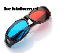 kebidumei 2pcs General Myopia 3D Vision Red Blue Cyan 3D Glasses Plastic Frame for Dimensional Anaglyph Movie Film DVD Game TV(China)