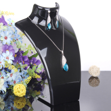 2017 New and Hot sale Black color 20*13.5cm Mannequin Necklace Jewelry Pendant Display Stand Holder Show Decorate Retail