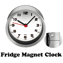 Free Shipping White Dial 2pcs/lot Kitchen Fridge Magnets Clocks Aluminum Can Wall Clocks,Metal Tin Desk Clocks