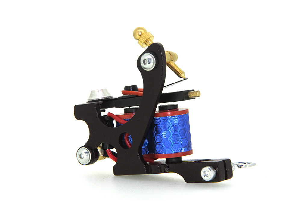 Top Quality Customs Handmade Tattoo Machine 10 Wraps Coil Zinc Alloy Machine Great For Liner and Shader Free Shipping TM-1115<br>