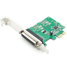 Printer DB25 Parallel Port LPT to PCI-E PCI Express Card Adapter Converter Free Shipping Brand New WCH382 Chip
