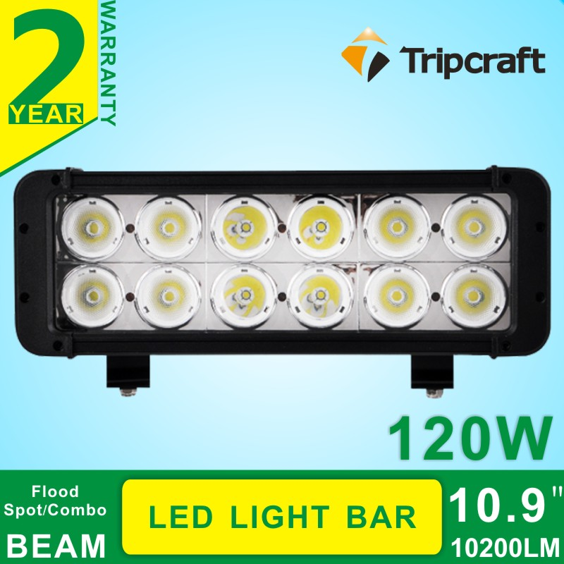 Double rows 10.9 120W LED Light Bar LED Work Bar Offroad Flood Spot Combo Car Lamp For Trcuk  4WD Boat<br><br>Aliexpress