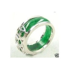 Excellent Fancy silver green  Ring 8#