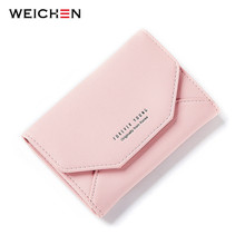 WEICHEN 2017 New Ladies Small Purse Wallet Envelope Shape Women Slim Wallet Hasp Coin Pocket Card Holder Female Carteira Purses(China)