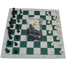 Size M Chess Game Set Pieces Plastic with International Chess Board 43x43cm Chessman King 77mm(3.03in) Toys Table Games(China)
