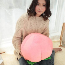 HOT SALE Cartoon lovely Plush Soft Cushion 40cm couch pillows fruit doll peach cojines decorative pillows Cushion chair cushion(China)
