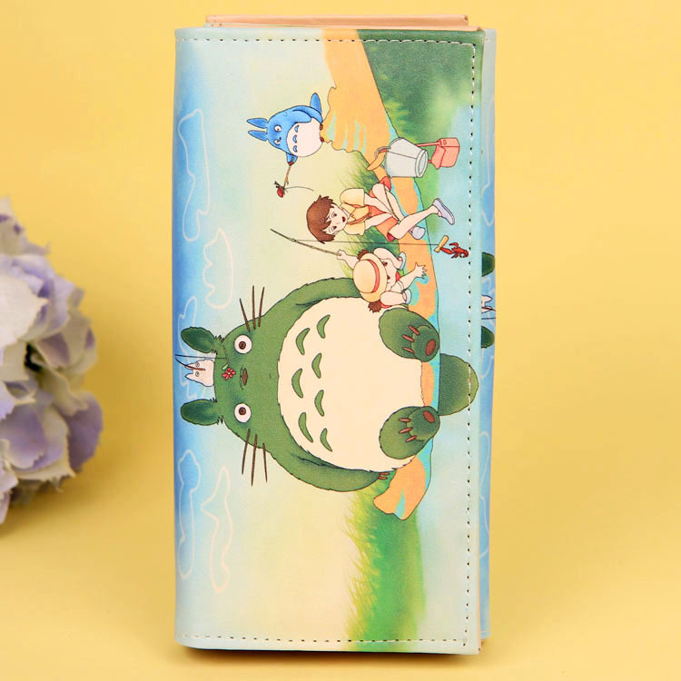 Cartoon My Neighbor Totoro Women Wallets PU Leather Students Wallet Cards Holder Women's Clutch Hasp Coin Purse Money Bags 9