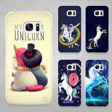 My Unicorn Hard White Coque Shell Case Cover Phone Cases for Samsung Galaxy S4 S5 S6 S7 Edge Plus