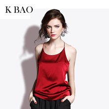2018 Women Summer Top Tees Female Vintage Mulberry Slik Evening Party Tshirt Women's V-neck Crop Tops(China)