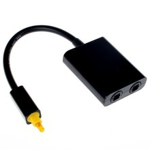 High Quality Mini USB Digital Toslink Optical Fiber Audio 1 to 2 Female Splitter Adapter Micro Usb Cable Accessories