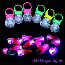 5pcs LED Finger Lights Plastic Simulation Diamond Ring Lamp Kids Toy Wedding Birthday Party Concert Decoration supplies A35