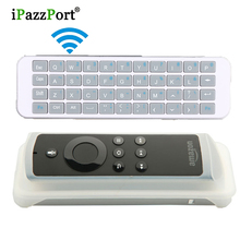 ipazzport Mini 2.4GHz USB QWERTY Wireless Keyboard Handheld Gmaer Keyboard For Android TV Tablet Laptop Pc With Silicon Sleeve