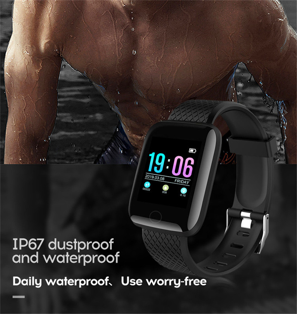 13-130435- Sport Smartwatch Women Heart Rate Monitor Smart Watch Men Blood Pressure Waterproof Fitness Tracker Watch For Android ios 2019