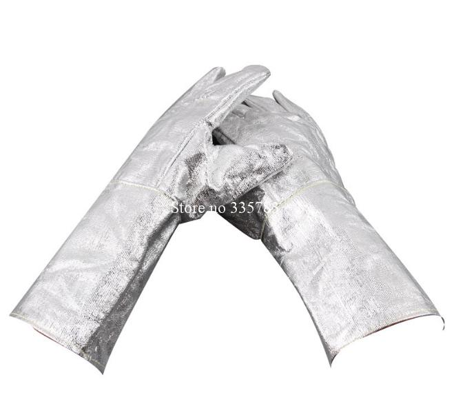 new High temperature gloves all Aluminum foil Radiation protection fireproof gloves 300 - 500 degrees Anti-scald protect gloves<br><br>Aliexpress