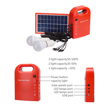 Portable Home Outdoor Small DC Solar Panels Charging Generator Power generation System 4.5Ah / 6V lead-acid batteries Energy LED