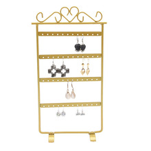 TONVIC Wholesale 1pc  High Quality Black/White/Pink/Gold Metal Earring Display Stand Holder 48 Holes 120718YB-ES02III