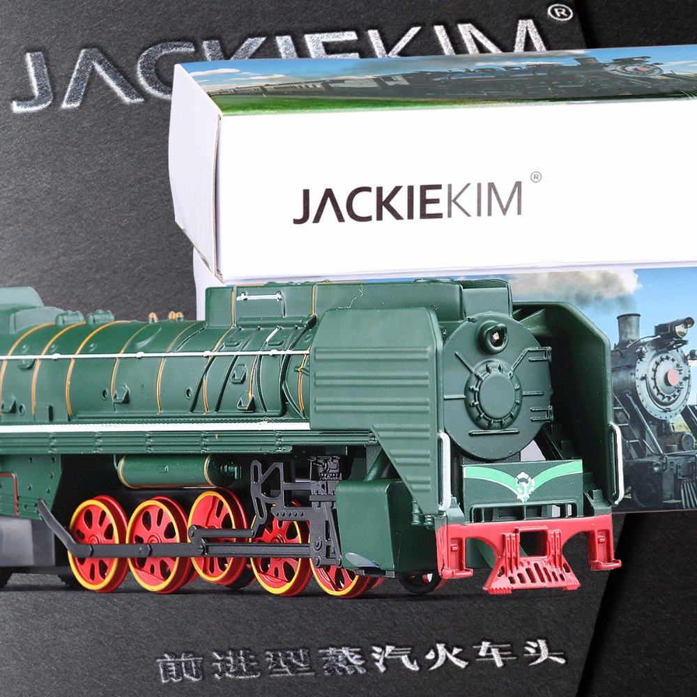 High quality 1:87 Retro Forward type 2 gas locomotive steam train alloy simulation model trains light pull back sound Kids toy(China (Mainland))