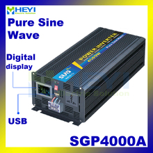 New Smart Series Pure Sine Wave Inverter 4000W with USB input 12VDC 24VDC 48VDC output 110VAC 220VAC charger inverter